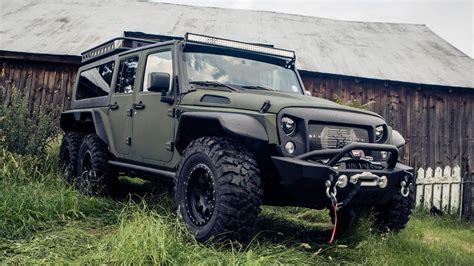 who makes jeep wrangler brand makes bigger badder jeep wrangler with 6x6