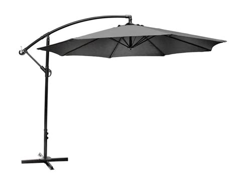 Hton Bay Patio Umbrella Base Hton Bay 11 Ft Offset Patio Umbrella With Solar Led Lights In The Home Depot Canada