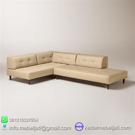 Sofa Sudut Di beli sofa sudut modern minimalis valencia kayu jati harga