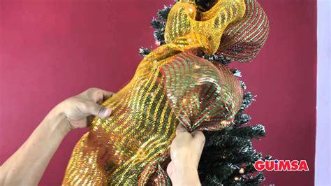 como decorar un arbol de navidad con malla y cinta como colocar tus mallas navide 241 as en el arbol de navidad
