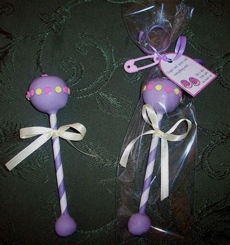 Baby Shower Cake Pop Rattles by Photo
