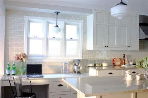 gray subway tile backsplash kitchen traditional with emeco