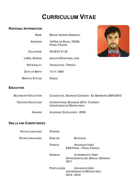 Resume Sample Marketing by 2016 Curriculum Vitae Samples Recentresumes Com
