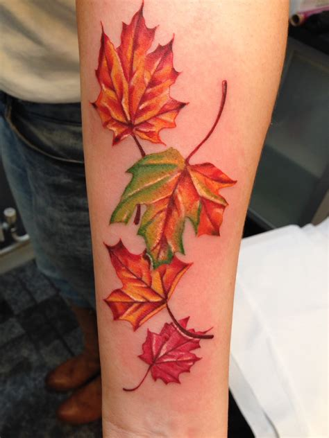 autumn leaves tattoo by toby harris tattoo pinterest