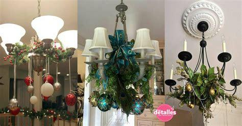 ideas  decorar lamparas de techo en navidad dale