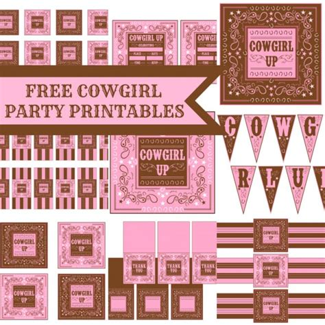printable cowgirl party decorations trends incredible cowgirl parties catch my party