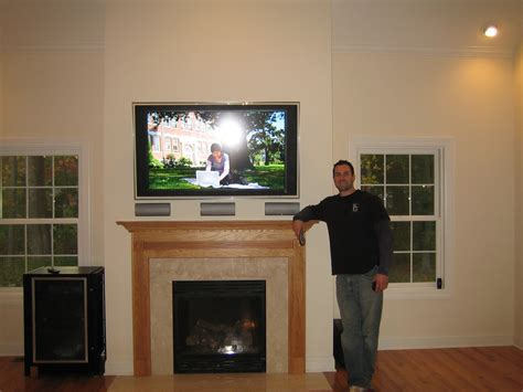 ct home theater installation and tv fireplace home