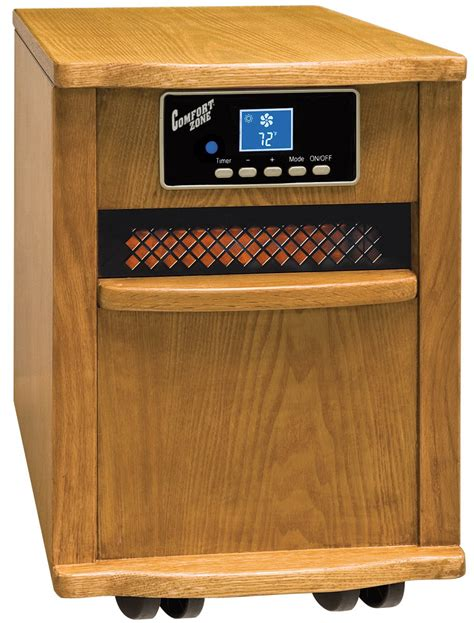 comfort zone therapeutic infrared heater comfort zone oak infrared quartz heater