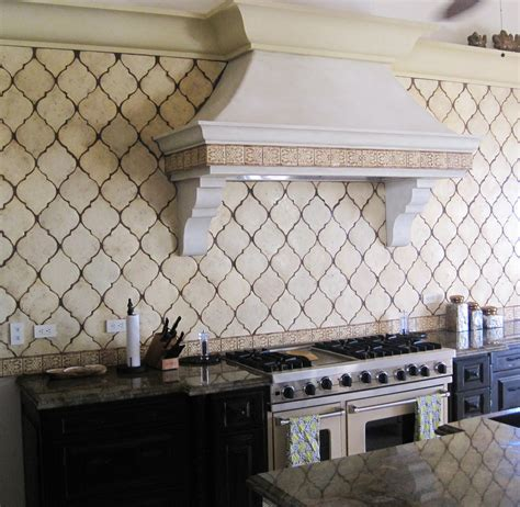 tile borders for kitchen backsplash design obsession arabesque tile backsplash border tiles