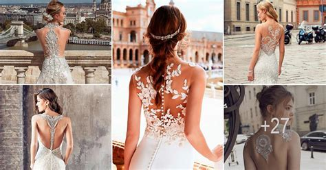 27 Stunning Trend: Tattoo Effect Wedding Dresses   Wedding