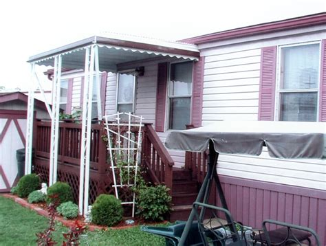 mobile home metal awnings 2 columns without gutter mr enclosure michigan sunrooms