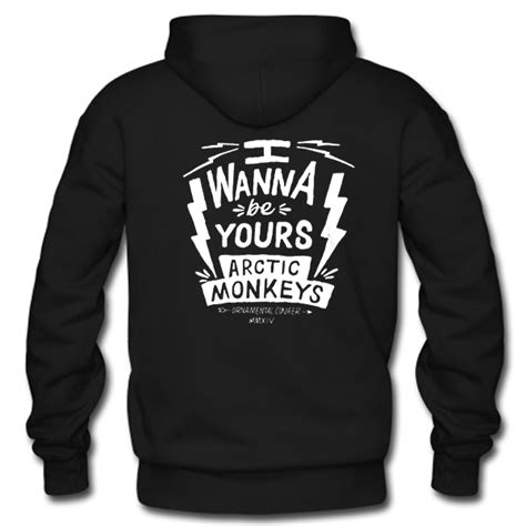 Hoodie Zipper Arctic Monkeys i wanna be yours arctic monkeys hoodie back