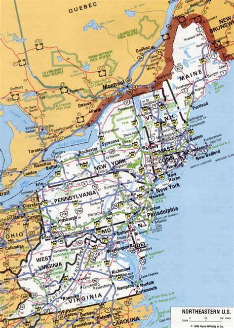 map of the northeast usa northeast us map
