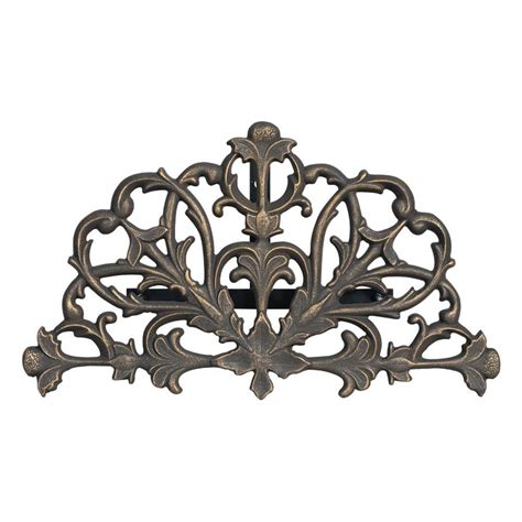 whitehall products oil rubbed bronze filigree hose holder