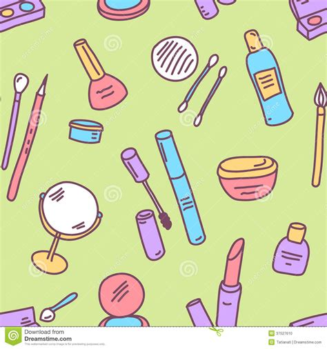 makeup pattern vector pattern cosmetics stock photo image 37527610