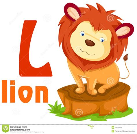 L For by Animal Alphabet L Stock Photo Image 13450950