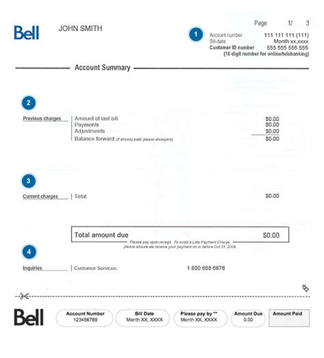 how to understand my bell home phone bill