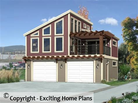 modern house garage cottage blueprints by