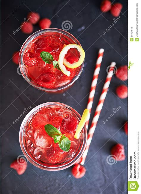 Raspberry Colorful colorful raspberry cocktails stock photo image 55804534