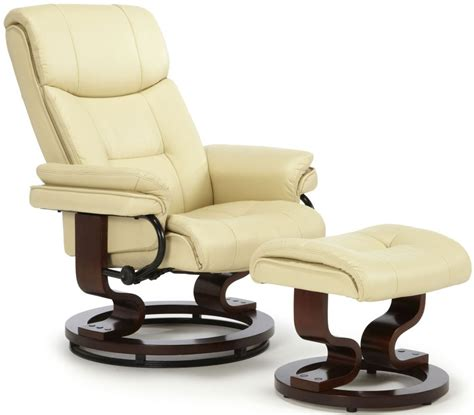 cream recliner chairs serene moss cream faux leather recliner chair serene