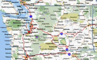 Map Of Washington State Cities And Towns by Cycling Maps For Washington State