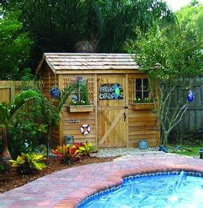 cedar storage sheds and pool sheds
