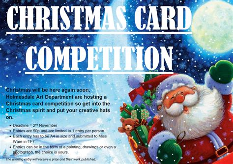 card competition card competition the holmesdale school