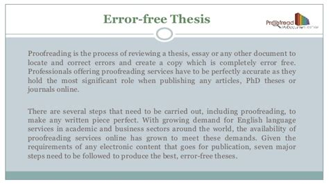 free phd thesis 7 simple steps to produce an error free phd thesis
