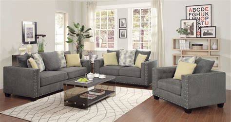 F Living Room Furniture Light Gray Living Room Set Living Room