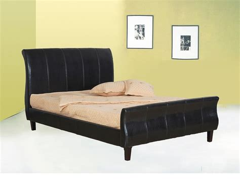 double king size bed double king size faux leather bed in brown black homegenies