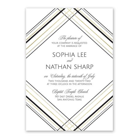 Wedding Invitation Card Printing Lines In by Sharp Lines Foil Invitation Invitations By