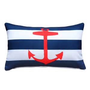 anchor nautical throw pillow 12x20