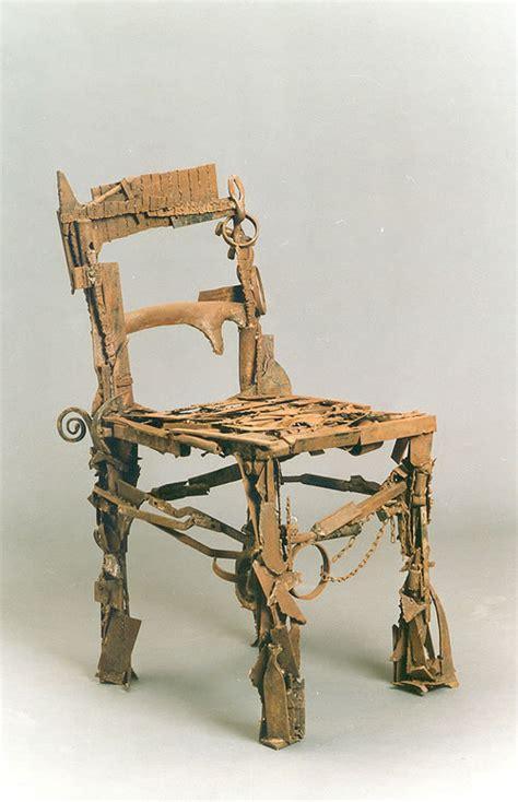 stuhl kunst stuhl skulptur aus schrott