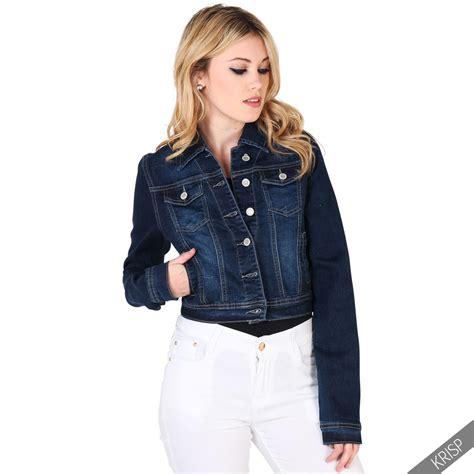 D F 01100699 Fashion Jaket womens retro 80s classic denim jacket casual jean crop