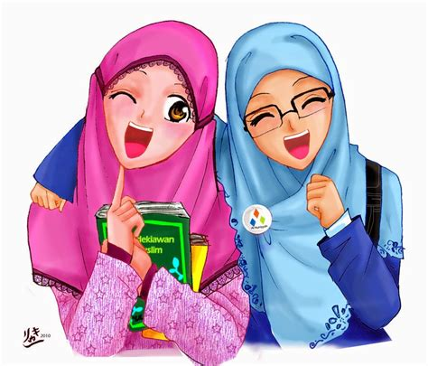 gambar wanita berhijab kartun romantis related keywords kartun romantis long