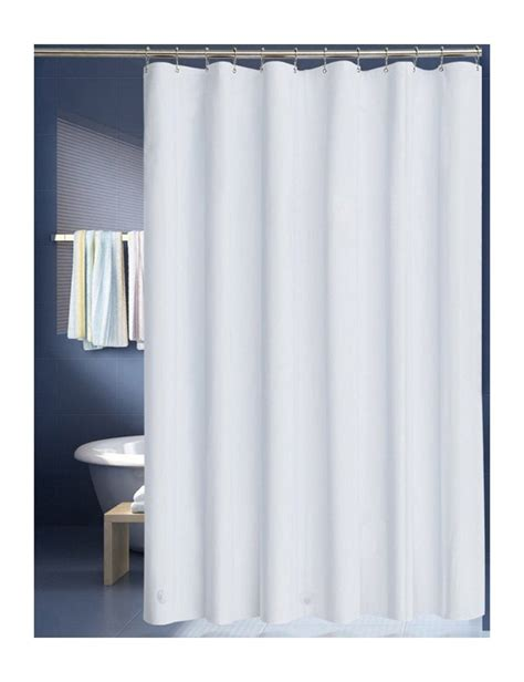 Buy Awekris Fabric Shower Curtain Liner Solid Hotel Quality White Polyester Curtain Waterproof