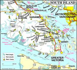 map of island canada map of south vancouver island columbia travel