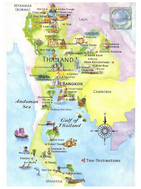 map tourist detailed tourist map of thailand thailand detailed