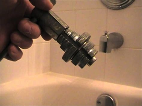 how to take out an old bathtub broken tub drain removal solution youtube