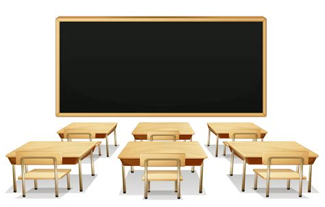 classroom clipart school classroom with blackboard and desks png clipart