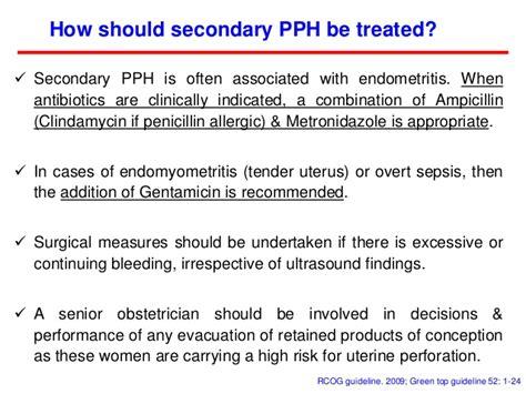 pph treatment medical management of post partum hemorrhage pph