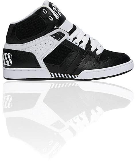 osiris nyc 83 black white striped shoes zumiez
