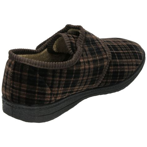 dr house shoes dr house shoes dr keller mens velcro fastening cosy slippers house shoes soft lining