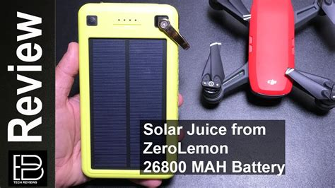 Lu Emergency Solar Cell zerolemon solar juice 26800 mah solar battery for the dji