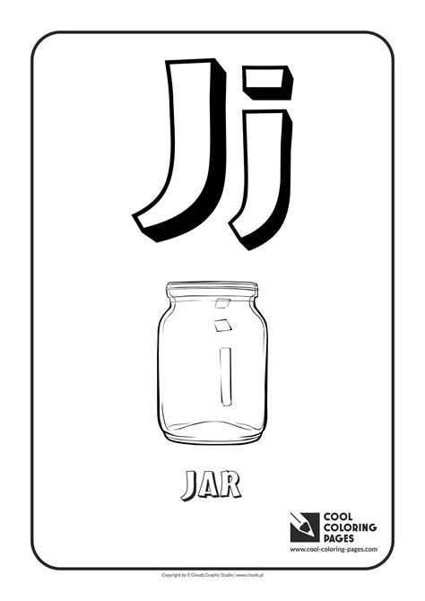 letter j coloring page the letter j pages of cool coloring pages