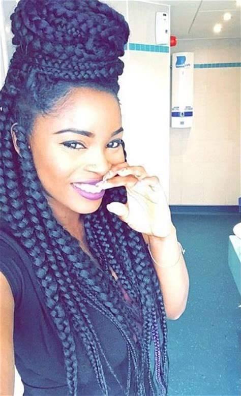 nubian hair long single plaits with shaved hair on sides 50 box braids hairstyles that turn heads page 5 of 5