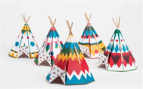 How To Make Paper Teepee - fancy folding mini teepees for from