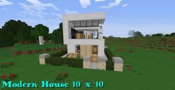 modern house 10x10 minecraft project