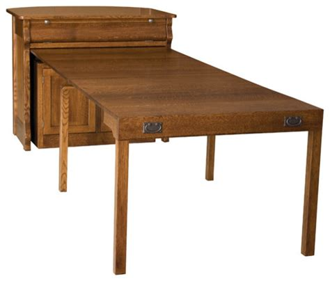 Fold Out Dining Table Cabinet Frontier Island Buffet With Pullout Table Traditional Dining Tables Other Metro By Amish
