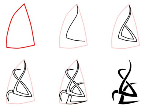 easy tattoo drawing step by step how to draw tribal flames